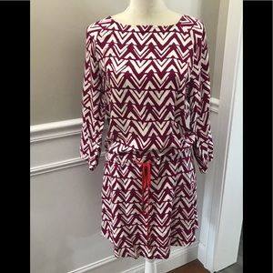 Hatley Magenta Pink Cinch Waist Dress. Size M
